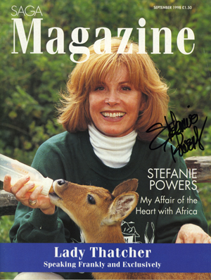 Saga Magazine Stefanie Powers